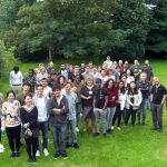 Cambridge CAE students in garden