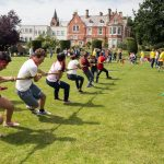 tug of war at mount temple Dublin
