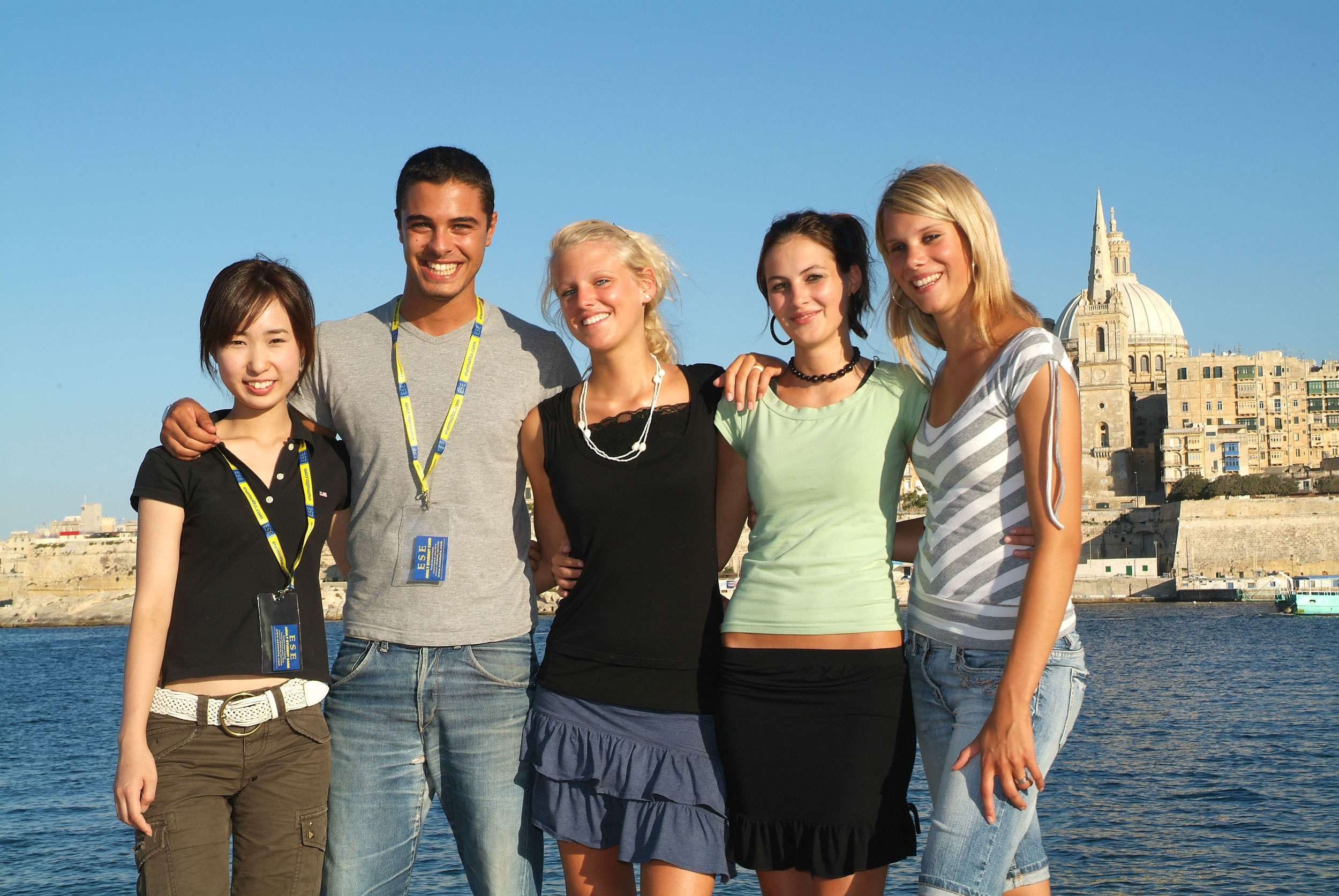 Malta teens group at Manoel island