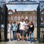 Students in front of Princess Helena College Cambridge